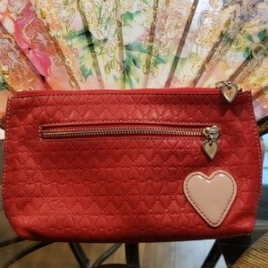 Ted Baker heart embossed leather cosmetic bag